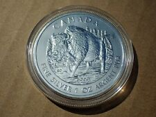 2013 Canadian Wildlife Series - Wood Bison - .9999 Silver - UNC - in holder