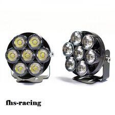 2 x Universal LED Tagfahrlicht mit 7 LED'S , Motorrad , Quad , Auto Motorroller