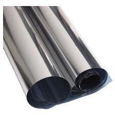 2M Silver Solar Reflective Window Paper Insulation Stickers One Way Mirror DT