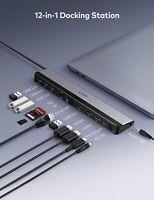 VAVA USB C Docking Station, 12-in-1 Type C Hub with Dual 4K HDMI Ports