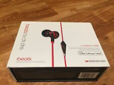 Monster Beats by Dr Dre iBeats In Ear Headphones/Earphones Black Original UK