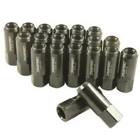 JDMSPEED BLACK 20PC 14X1.5MM 60MM EXTENDED FORGED ALUMINUM TUNER RACING LUG NUT