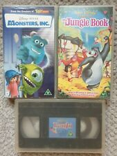 Disney VHS Tape Bundle X3 Bambi, The Jungle Book And Monsters Inc
