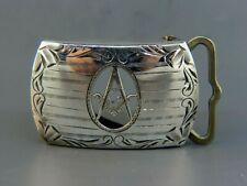 Masonic Sterling Silver Belt Buckle Art Deco Era