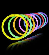 Pulsera iluminada luminosa fluorescente x3 luz neon noche fiesta varios colores