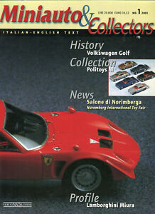 Miniauto & Collectors magazine model cars no.1 Lamborghini Miura Politoys Golf