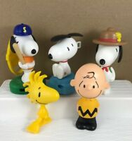 "Peanuts Charlie Brown Snoopy Toys Figures Lot Of 5 McDonalds Peanut's 4"" Tall"