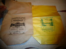 Ancien Petit Sac en papier d'épicerie J Laversanne Lyon Spécialité de Café