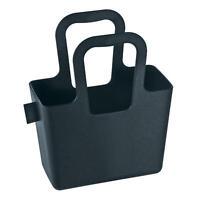 Koziol Taschelini Tasche, Kunststofftasche, Tragetasche, Solid Schwarz, 5415526