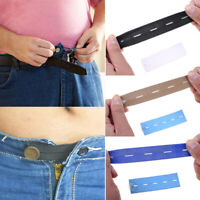 1PC Dress Pants Extender Elastic band Buckle Button Belts Waistband Trousers Hot