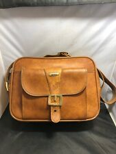 VINTAGE INVICTA LEATHER DUFFLE BAG CARRY-ON LUGGAGE DISTRESSED LOOK