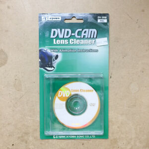 DVD-CAM Lens Cleaner DV-2008 PAL With Animation Instructions