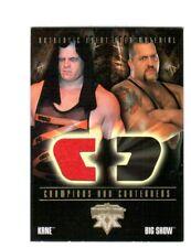 WWE Kane 2004 Fleer WrestleMania 20 Event Used Memorabilia Shirt Relic Card