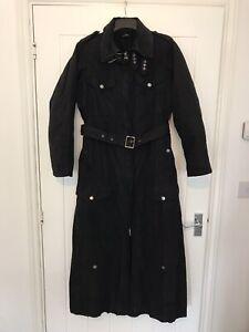 cp company Long Black Trench Coat Sz 42 Uk 10/12 £1200