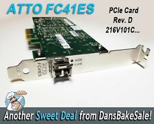 ATTO FC41ES 216V101C Rev D Fibre Network PCIe Card for Avid Unity - Excellent