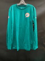 MIAMI DOLPHINS TEAM ISSUED THROWBACK DRI FIT LONG SLEEVE SHIRT NEW W/TAGS LARGE
