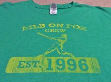 MLB On Fox Local Crew Camera Staff TV Production Green T-Shirt XL Gildan