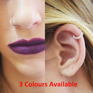 Tiny Thin Silver 0.8 Gold Rose Gold 8mm Tribal Septum Ring Hoop Nose Ethnic Boho