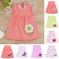 Girls Wrap Chest Cute Dress Soft Floral Print Sleeveless Children Clothing P4PM