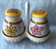 INTRADA Fratelli 3 piece SALT & PEPPER (Sale , Pepe) with Caddy made in Italy