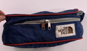 Vintage NORTH FACE Brown Label Blue with red Fanny pack bag Waist bag