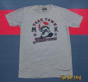 New Nintendo Toad Town Mushrooms Men's Super Mario Bros T-Shirt