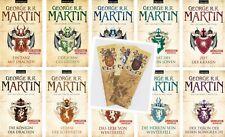 Game of Thrones Das Lied von Eis und Feuer 10 Bände R R Martin mit 1 Lesezeichen