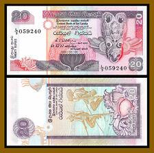 Sri Lanka 20 Rupees x 5 Pcs Lot, 1991 P-103 Unc /LA128