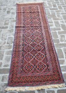 2'9 x 9'2 Handmade afghan tribal high quality mushvani nakhunak wool runner rug