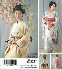 Japanese KIMONOS, OBI Costume Pattern Misses 14-20 Simplicity 4080 NEW Dickey