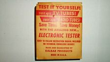 Kalbar Products Test-tronic Electronic Tube Tester in Original Box