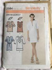 Simplicity Pattern 2584 Cynthia Rowley Dress Or Tunic CUT (12)