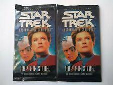 Star Trek ccg Two Captain's Log sealed booster packs