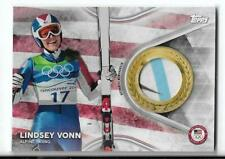 SWEET 2018 TOPPS OLYMPICS LINDSEY VONN 3 COLOR RELIC CARD ~ ALPINE SKIING LEGEND