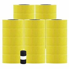 MoTex Mx-5500New Price Marking Gun Label Rolls, Yellow 3/4x3/8&quot 22x12mm 25
