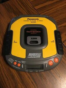 Panasonic Shock Wave Mash Portable CD Player SL-SW404 Anti-Shock Yellow TESTED