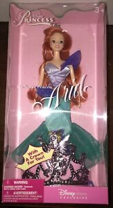 NEW Disney Store EXCLUSIVE Enchanted Princess ARIEL Little Mermaid Doll W CROWN