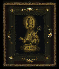 old EGLOMISE/GLASS GILDED-S.NIKOLAUS EP. MYRAE 19Th.