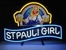 """New St Pauli Girl Beck's Bremen Beer Lager Neon Sign 20""""x16"""""""