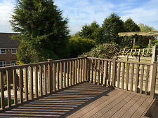 Wood Plastic Composite Balustrade Pack in Walnut 1.8 Linear Metres Ecoscape UK