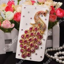 Fashion Bling Jewelled Crystal Diamond Rhinestone Peacock Phone Case Cover