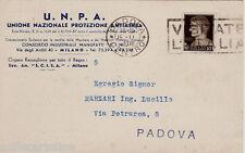 #MILANO: testatina-U.N.P.A.-UNIONE NAZ. PROTEZIONE ANTIAEREA