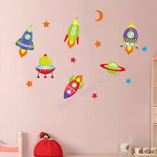 Pegatinas de Pared Espacio Habitación de Niños de cohetes Extraíble Pegatinas De Pared