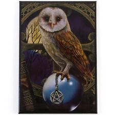 Quality Lisa Parker Fridge Magnet~Fantasy Art~Crystal Ball Owl~LP8~uk seller