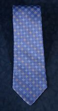 "Blue Based Multi-Colored Diamond Print NICOLE MILLER Silk Tie 3 3/4"" x 60 """
