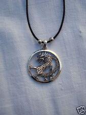 Pendentif  celte dragon rond  héroic fantaisy neuf