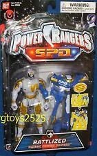 """Power Rangers SPD 5"""" OMEGA WHITE BATTLIZED Power Ranger New  Factory Sealed 2005"""