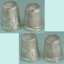 2 Vintage Sterling Silver Thimbles by Henry Griffith * Hallmarked 1918 & C1930