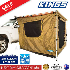 Kings Car Side Awning Tent Outdoor Camping Shade Rook Waterproof Cover 2 Sizes