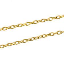 10m Gliederkette Halskette Blogger goldfarben Meterware 3x5mm Schmuck Kette DIY